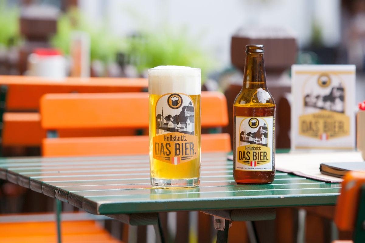 Hallstatt-Bier im Café Derbl